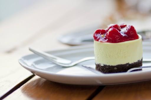 Mini cheesecake stock