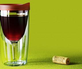 Wijn drinken zonder morsen uit de Vino2Go glazen
