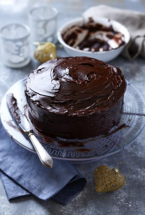 chocolade taart kerst stock2