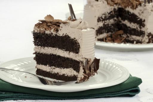chocolade taart stock
