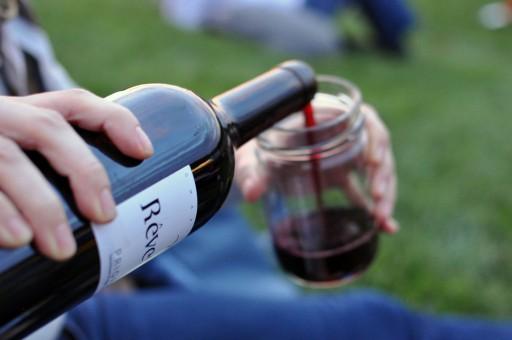 Wijn jar potje