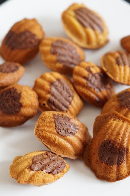 Nutella madeleines