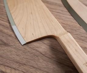 Bijzonder mooie houten (!) messenset