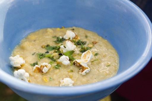 Afbeelding maissoep voor gerechten die je warm en koud kunt eten