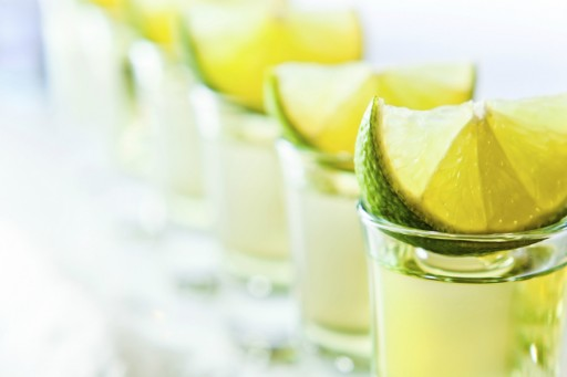 Tequila shotjes stock