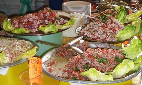 Tostadas de Coyoacán, street food, Mexico City