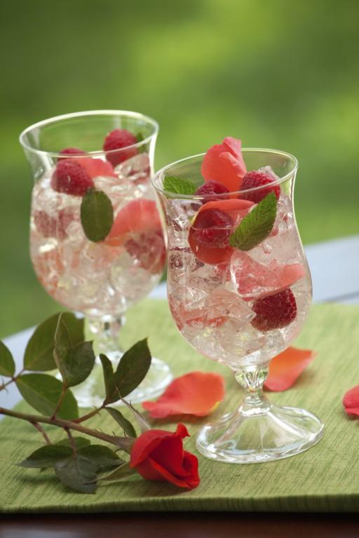 Rozenblaadjes cocktail stock