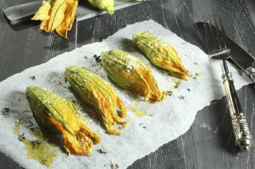 Courgette bloem stock