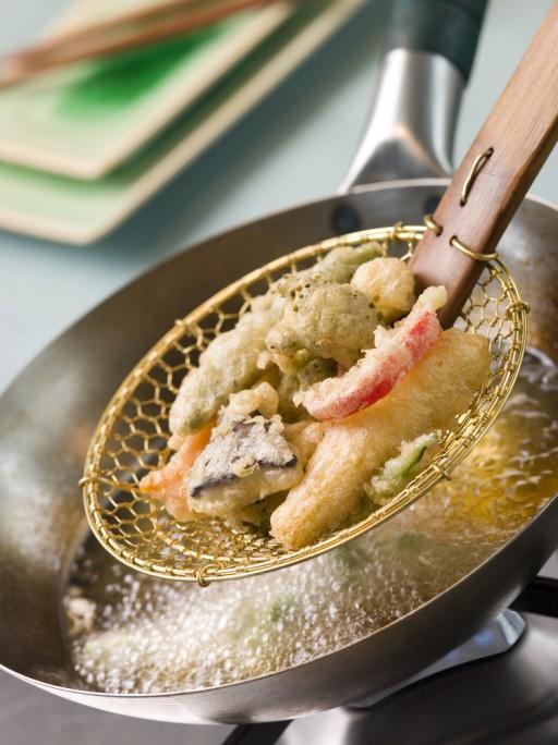 tempura uit de pan