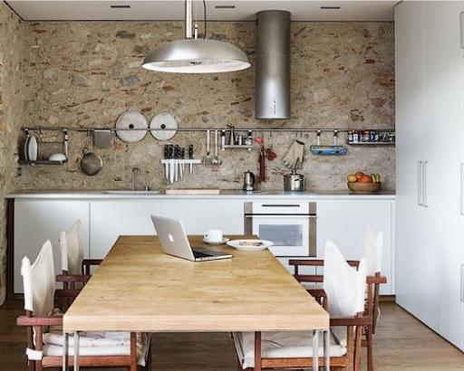 Slimme opbergrekjes voor in de keuken - Keuken uitgerust voor klein gebied ...