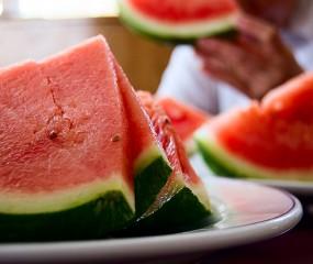 Watermeloen-bananensmoothie