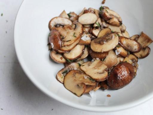 Herfsthapje met champignons