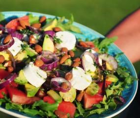 Heerlijk zomers: avocado salade met watermeloen