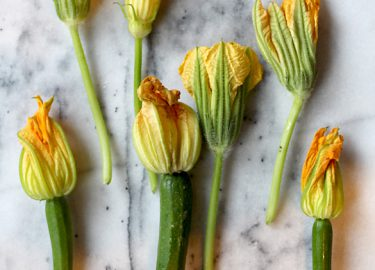 courgettebloemen rauw