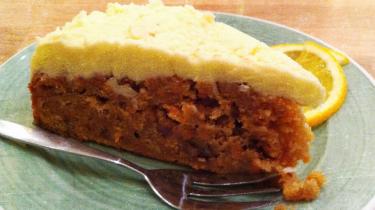 Afbeelding van de carrot cake van Bagels & Beans