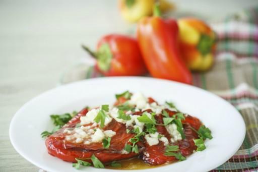 Geroosterde paprika stock
