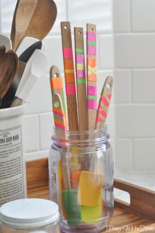 Diy washi tape masking tape voor in de keuken - Tape geleid keuken ...