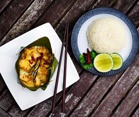 Aziatisch koken: Amok, gestoomde vis uit Cambodja