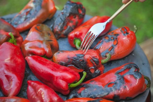 Stock paprika's grillen en paprika's roosteren0002