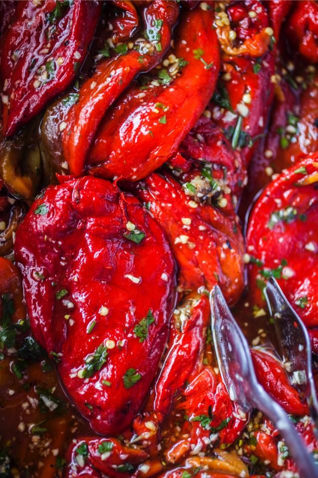Stock paprika's grillen en paprika's roosteren0003