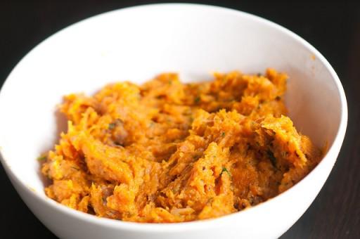 Pumpkin and roasted garlic mash
