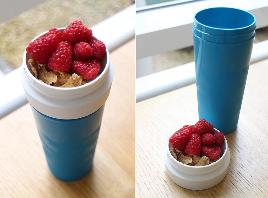 Handig een yoghurt to go beker for Kartonnen koffiebekers hema