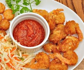 Goddelijke snack: krokant gebakken garnalen