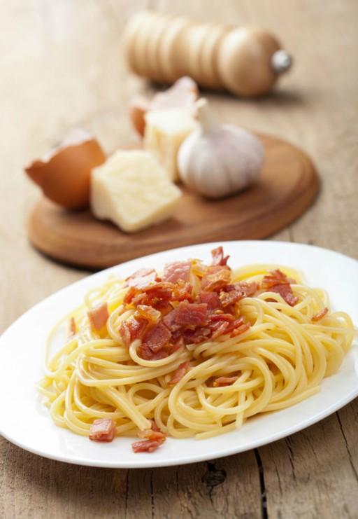 spaghetti pasta carbonara