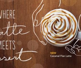 Starbucks verzint nieuwe gekke smaak koffie: de Caramel Flan Latte