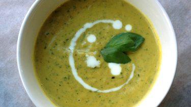 Afbeelding van courgettesoep voor een persoon recept