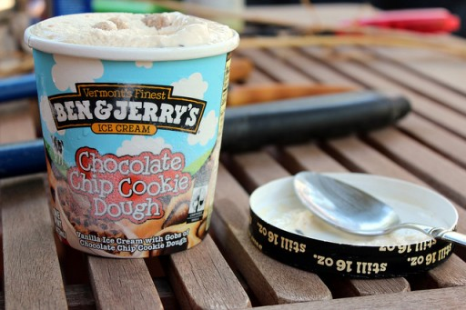 ben & jerry cookie dough ijs