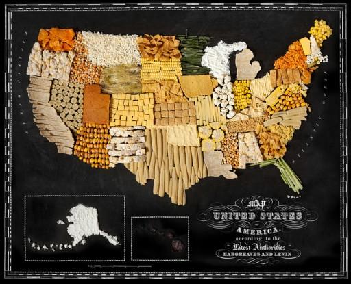 Landkaart USA