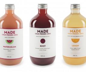 Made: prachtig verpakte sapjes uit Australië