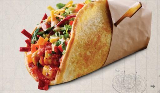 Bizarre pizzacreaties - pizzataco