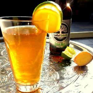 Cider en whiskey mix drank