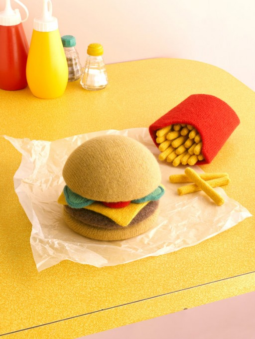 Comfort Food Wool - burger