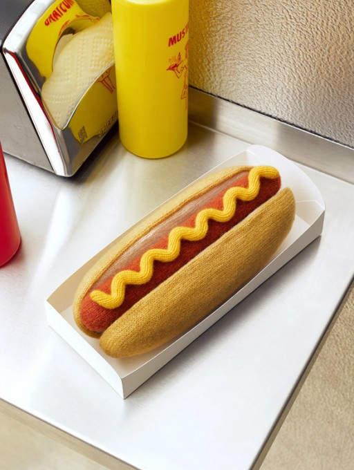 Comfort Food Wool hot dog