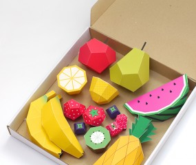 DIY: 3D fruit van papier