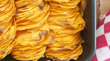 Crispy geroosterde zoete aardappel