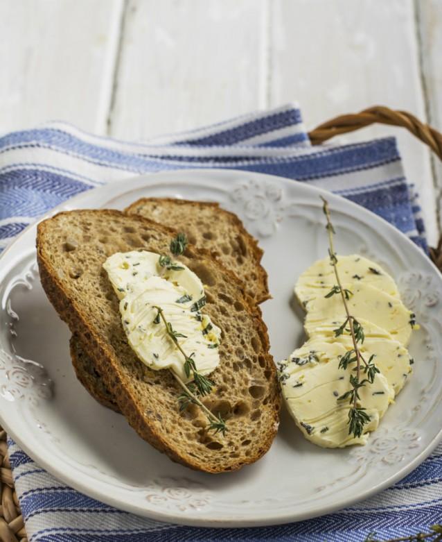 Kruiden boter brood stock