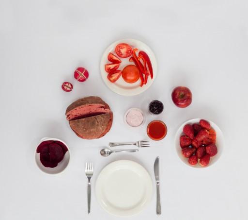 Monochromes fruhstuck - rood