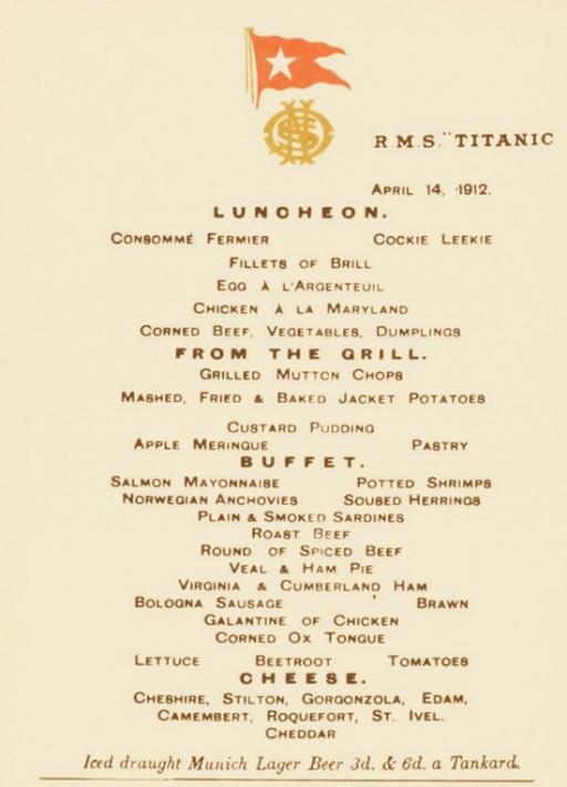 titanic-final-lunch-menu