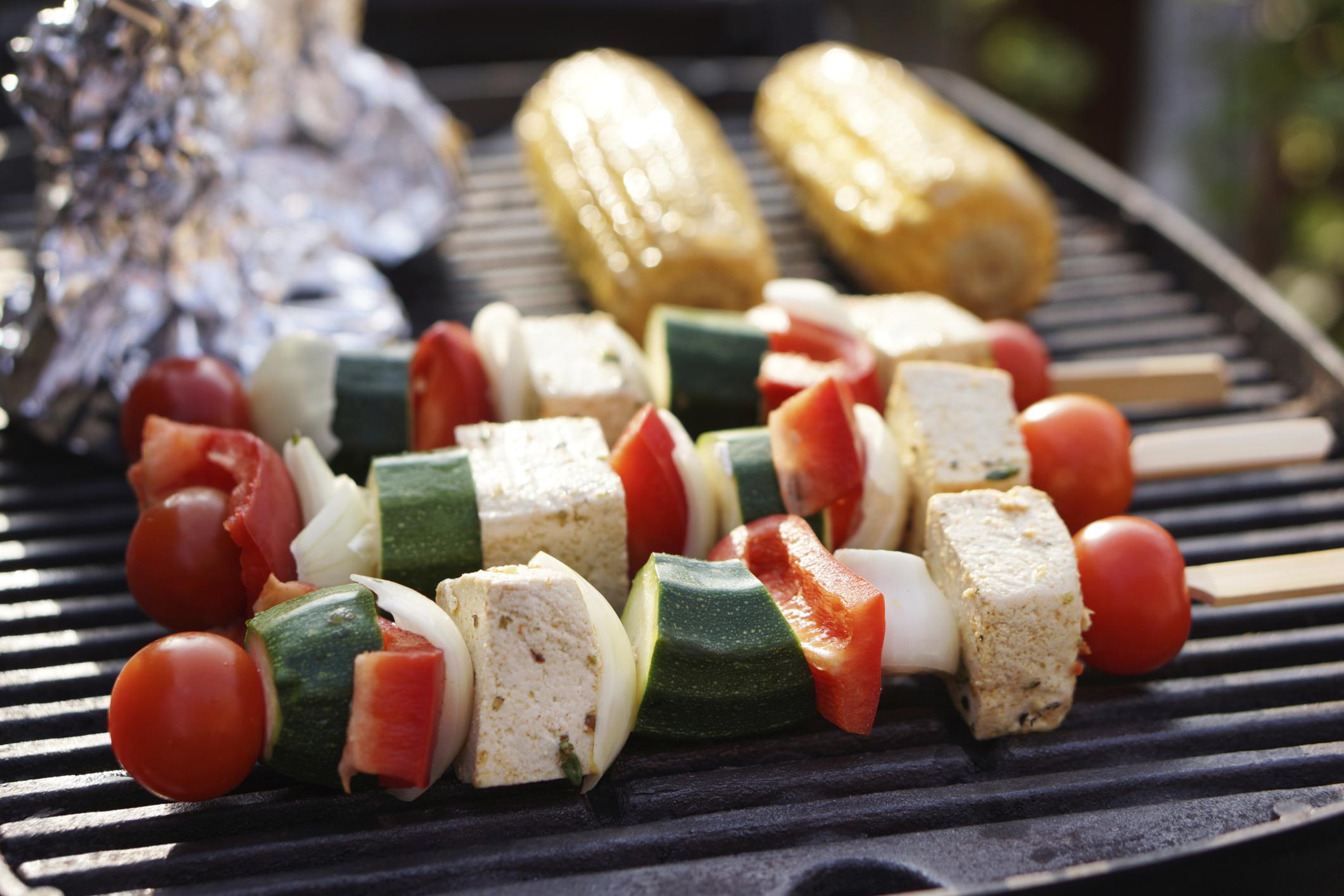 vegetarische barbecue gerechten