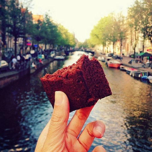 Brownie in Amsterdam