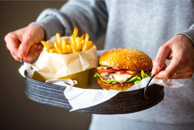 Stock hamburger friet