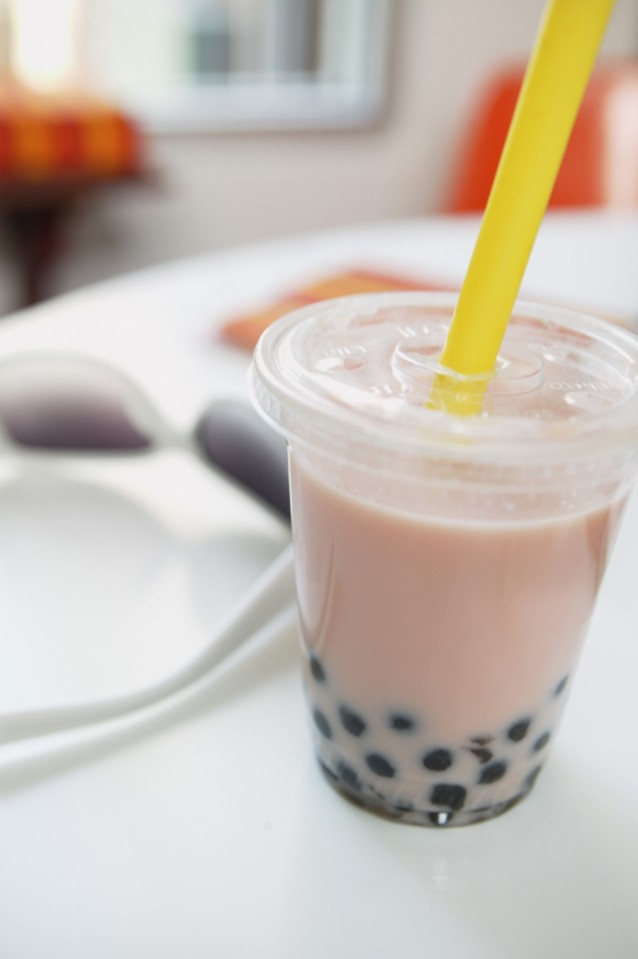 bubble tea tapioca stock