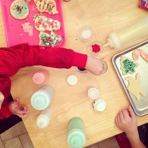 Plastic knijpflessen cookie icing