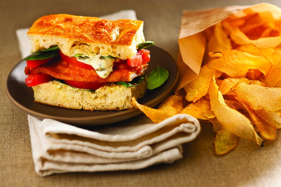 Afbeelding broodje schnitzel