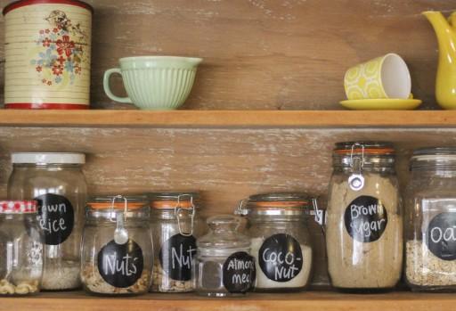 Glazen potten keuken
