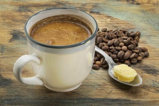 Stock koffie boter